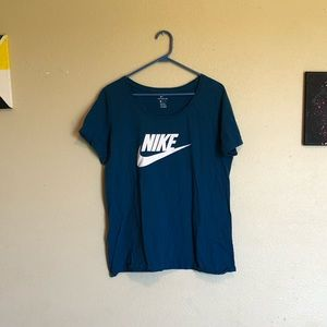 The Nike Tee Blue/Turquoise Women's XL
